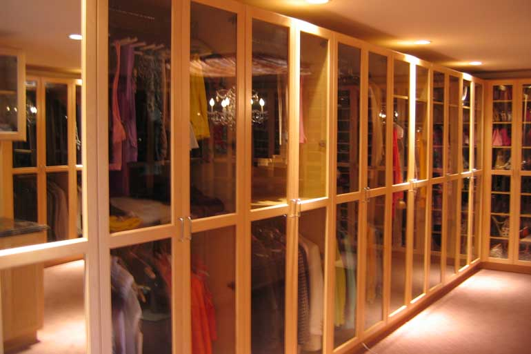 Custom Master Bedroom Walk In Closet Glass Doors. Walk in Closets   Custom Closets  LLC   Closet Organizers and