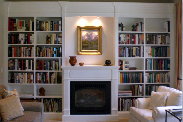 Bookshelves. Slide Background